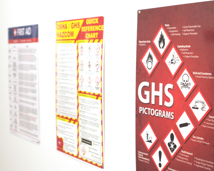 Wall safety signs